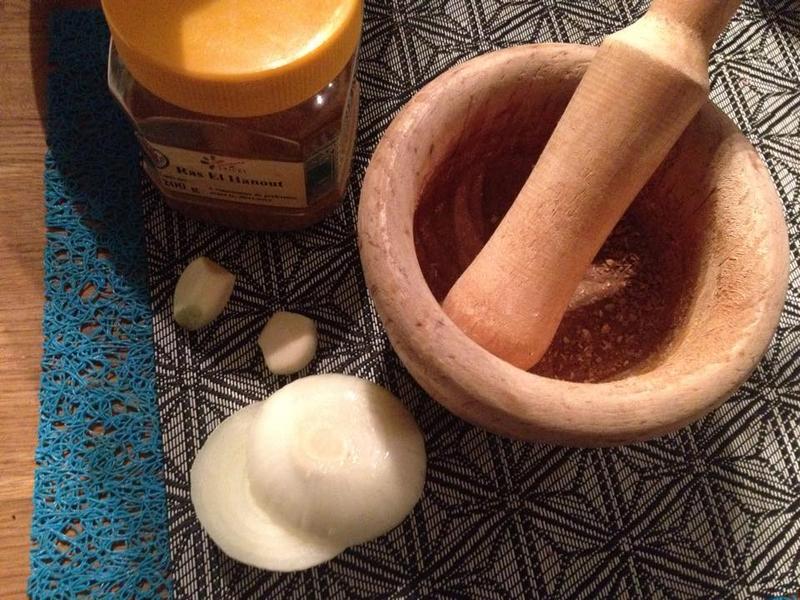 Tajine de palombe - ingredients