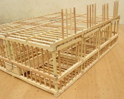 cage grive nourrisseur cage pour engrainer les grives cage grive. Black Bedroom Furniture Sets. Home Design Ideas