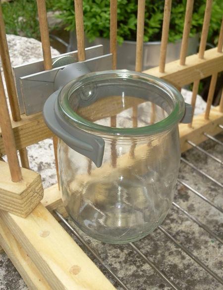 cage grive support pot en verre