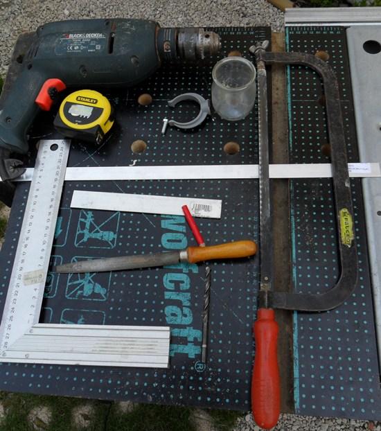 cage grive support pot en verre outils